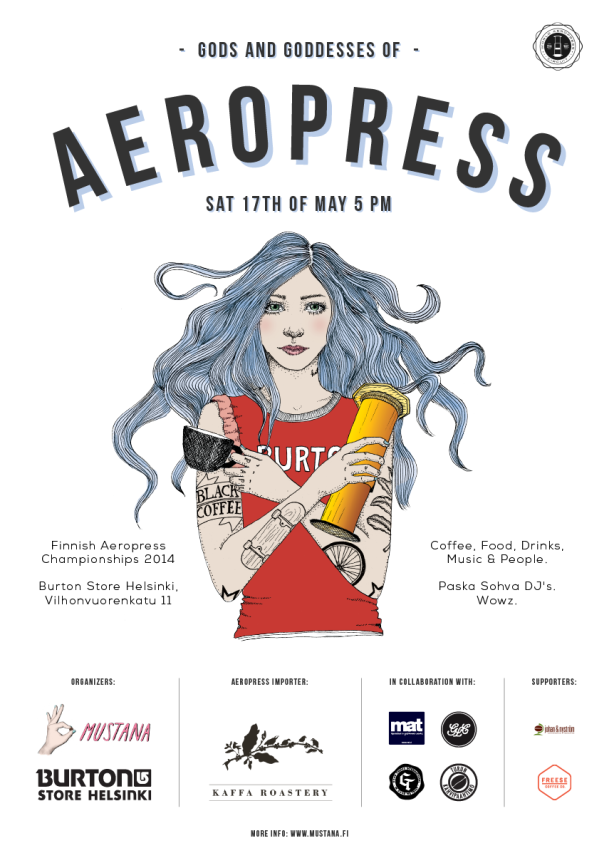 "Finnish AeroPress Champs: nothing's better than ""coffee, food, drinks, music & people"""