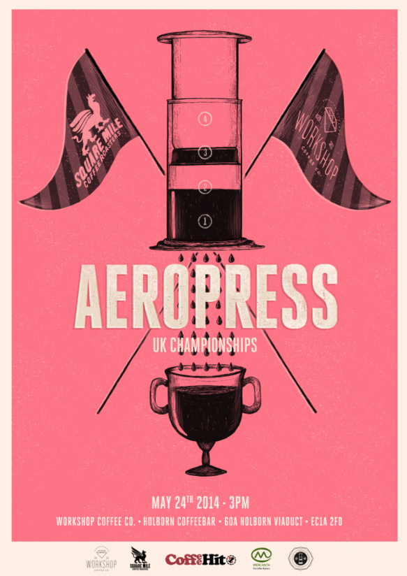 UK AeroPress Championship were at Square Mile Coffee (which is really tasty)
