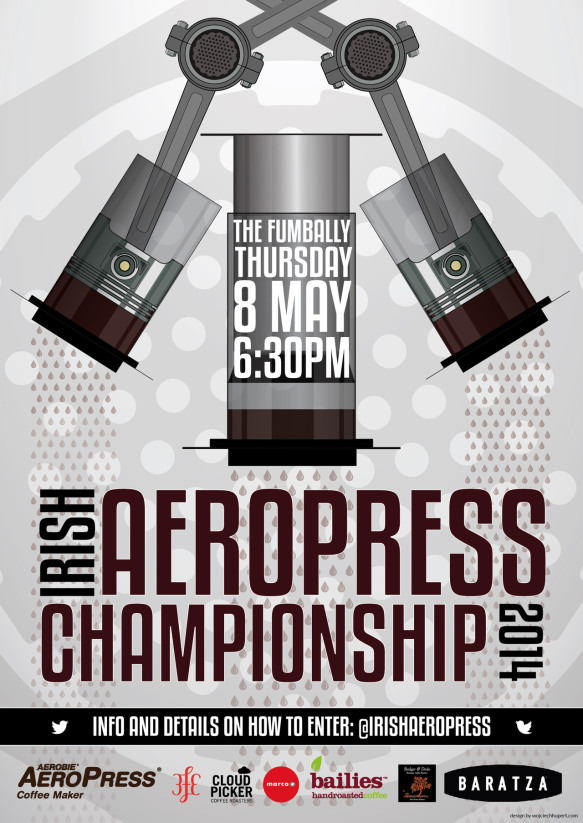 The Irish join the fun with a piston-themed AeroPress design...