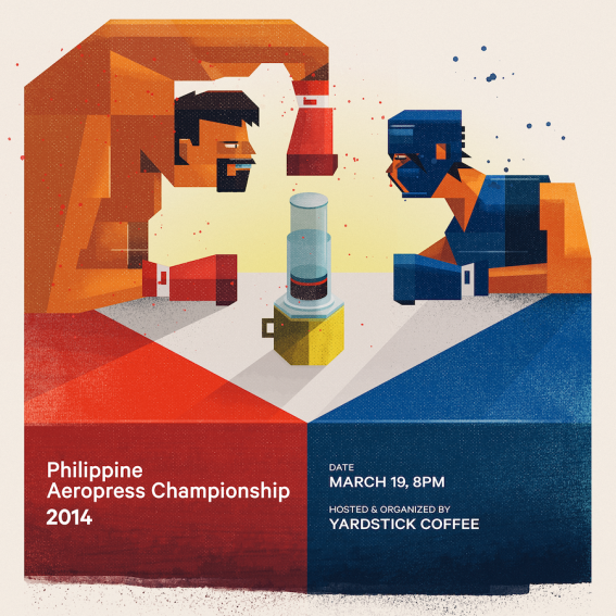 And my personal favorite: the Philippine AeroPress Championship is going all 8 bit / art deco...
