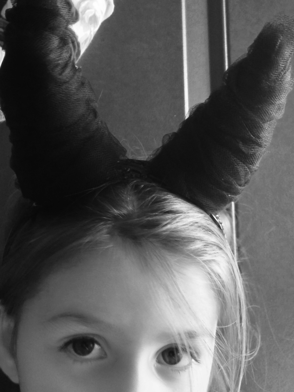 Maleficent was also at every trick or treating opportunity lately.  (Told you we knew some big fans.)