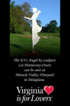911 Angel donated by Lei Hennessey-Owen at Miracle Valley Vineyard