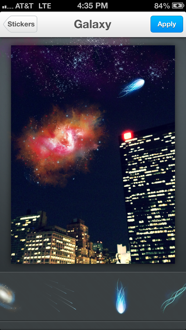 Aviary's Galaxy Stickers