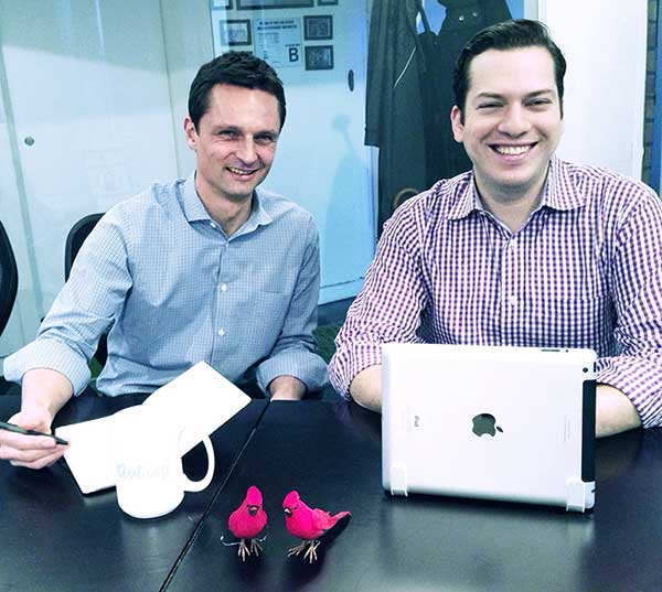 Aviary CEO, Tobias Peggs (left) with co-founder and CPO, Avi Muchnick (right)