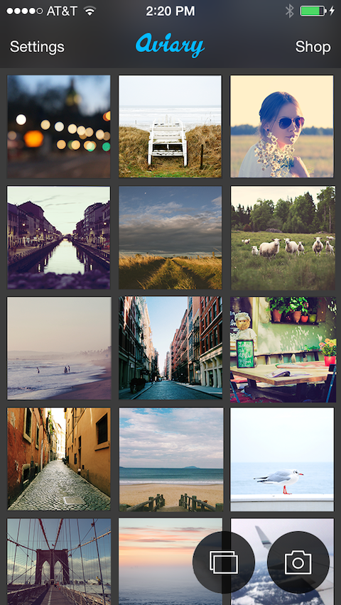 Quickly find the exact photo you want to edit with the grid.