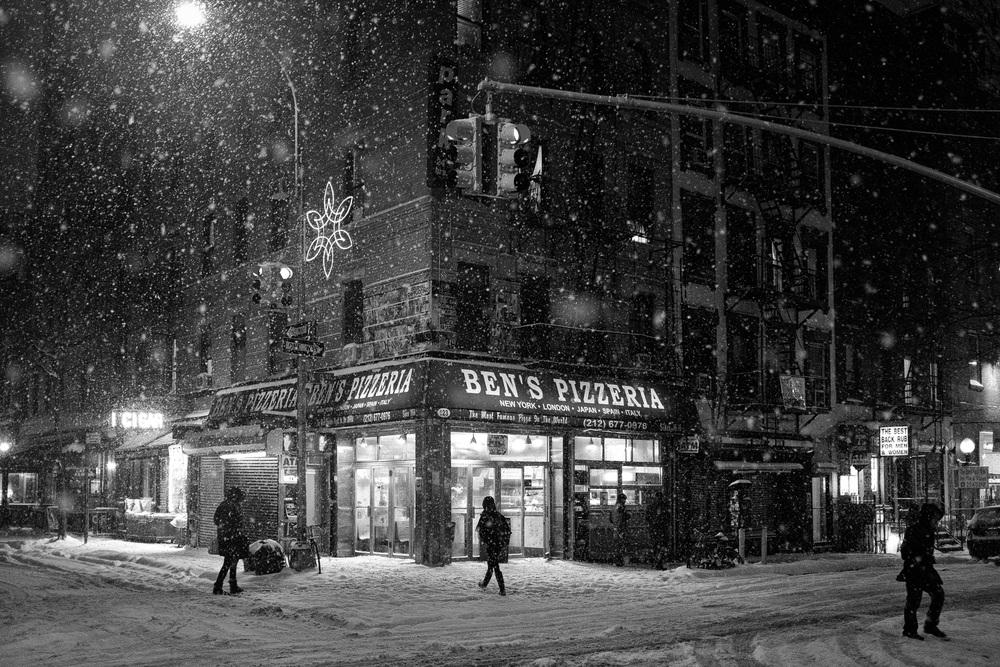 Ben's Pizzeria. MacDougal Street at E. 3rd.