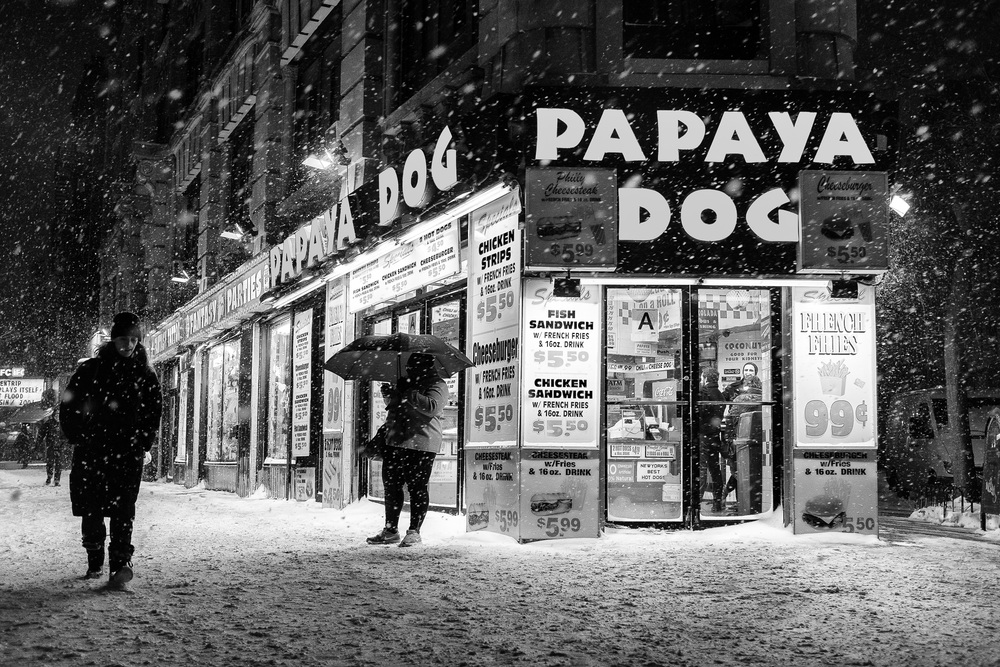 Papaya Dog. 6th Avenue at W. 4th and Cornelia Street