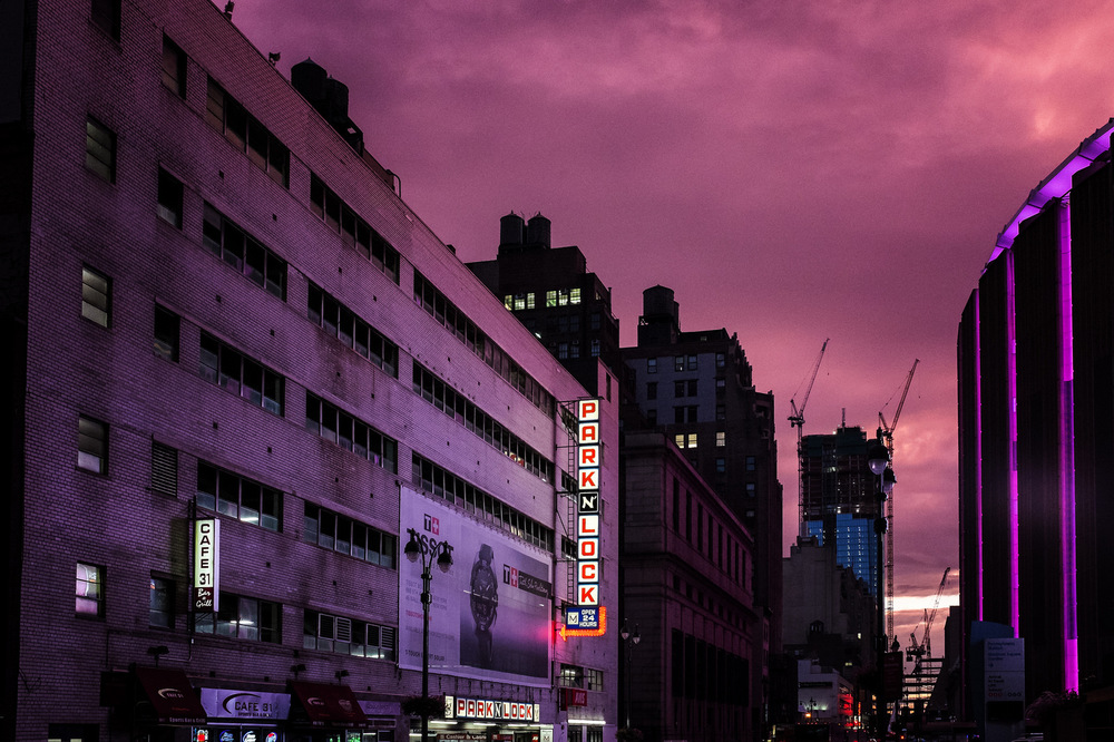 """31st Street Sunset""  August 2015, New York, NY Fujifilm X100s, 23mm, f/8, 1/90, ISO 6400"
