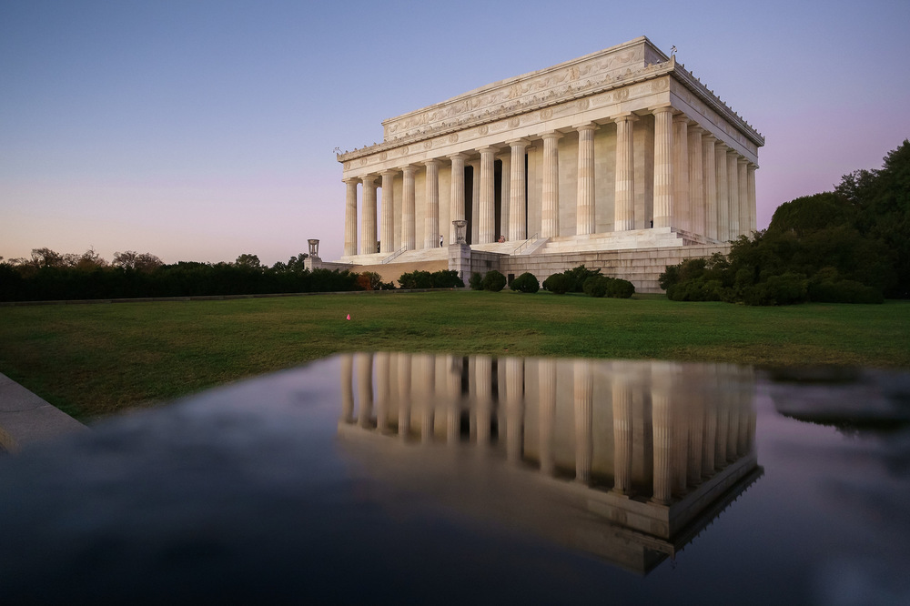 """Lincoln Memorial Reflections""  November 2015, Washington, DC Fujifilm XPro1, 14mm, f/3.2, 1/140, ISO 2500"