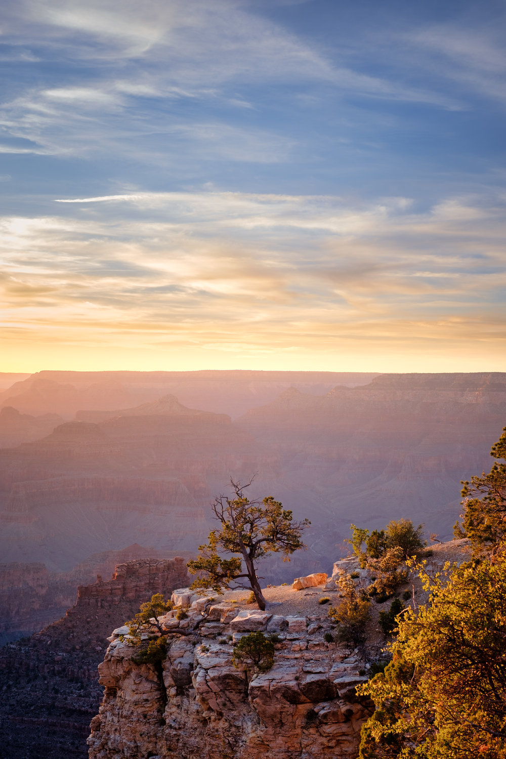 Sunset on the South Rim Trail