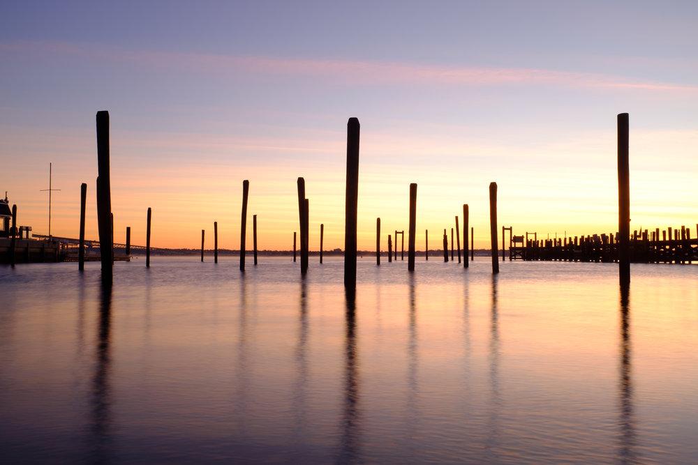 Claiborne Pell Newport Bridge. Jamestown, RI. November 2015.
