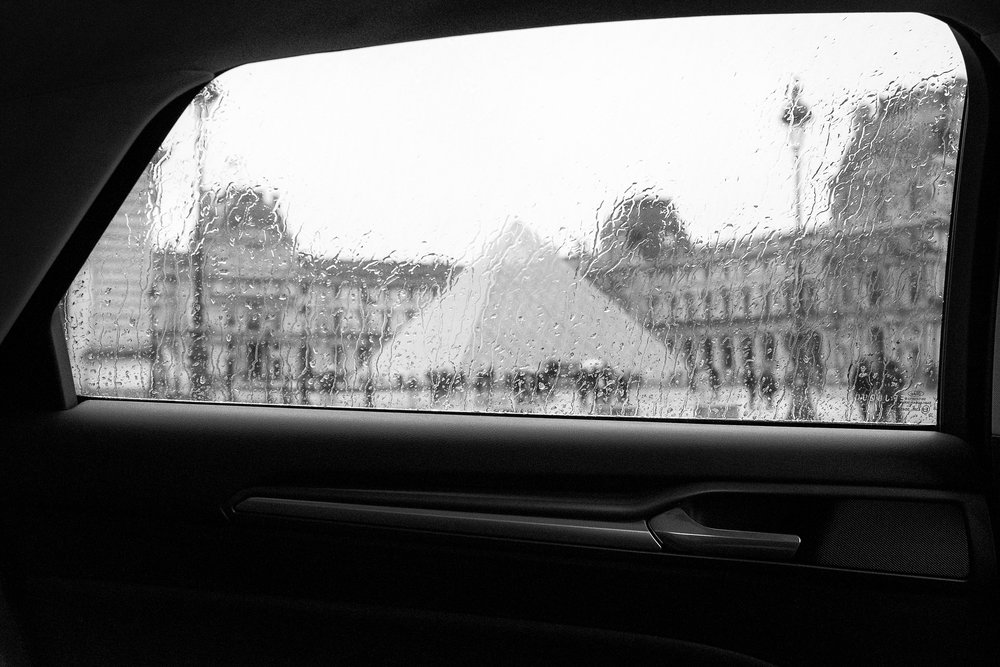 The Louvre Museum in the rain