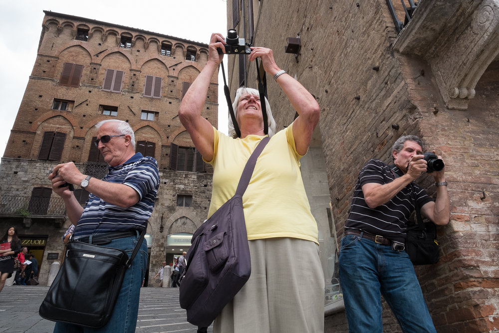Tourists. Siena. June, 2013