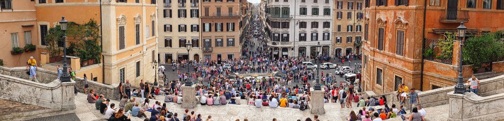 The Spanish Steps. Rome. June, 2013
