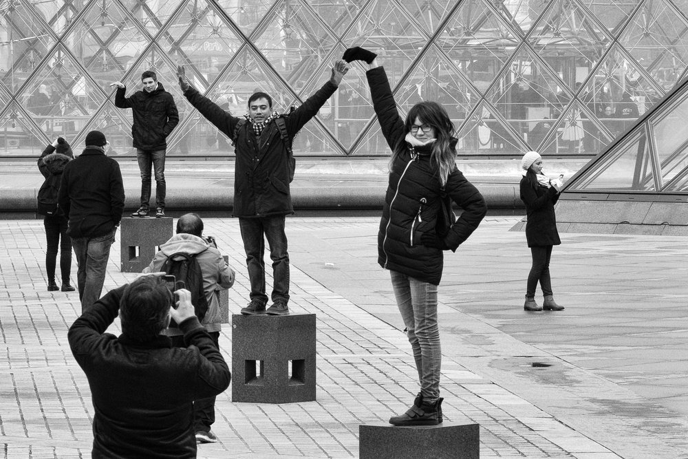 """Choreography."" January 14, 2017, Musee du Louvre. Paris, France. Fujifilm X-Pro1, 55-200mm, f/13, 1/125, ISO 1250"