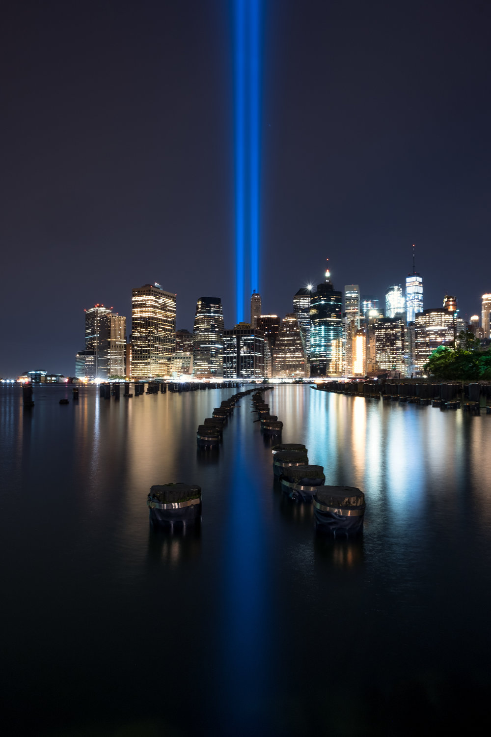 """Tribute in Light"" September 11, 2017. Brooklyn, New York Fujifilm X-Pro2, 14mm, f/11, 45 seconds, ISO 200"