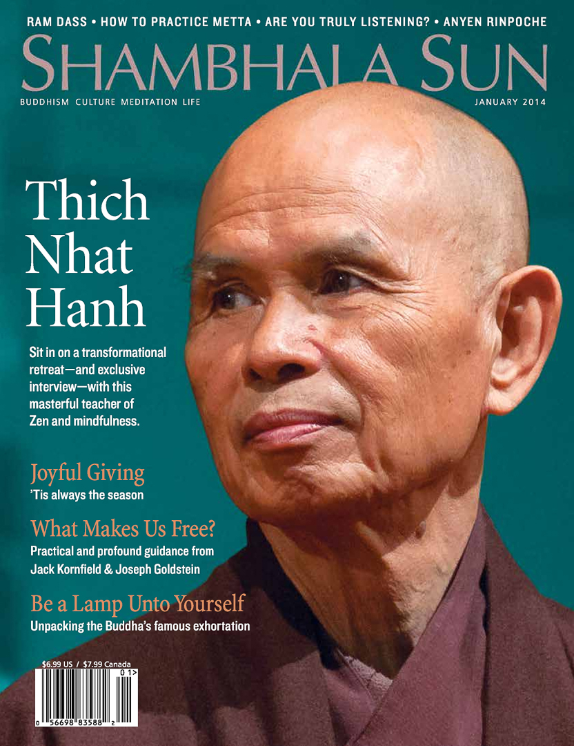 I was grateful to have Shambhala Sun use one of my photos on the cover of the January 2014 issue.