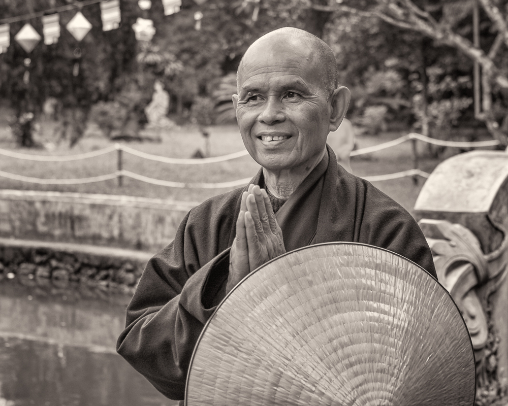 Thich Nhat Hanh (Thay) at his root temple in Hue, Vietnam.