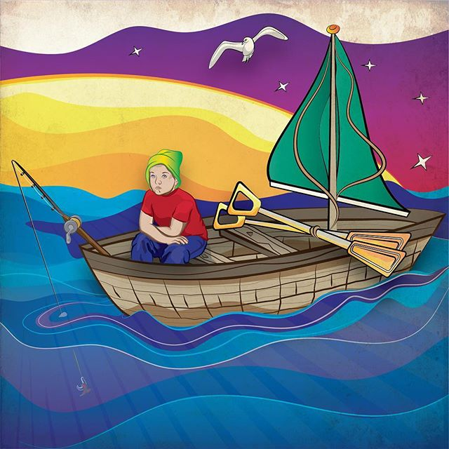 #fishing #child #graphicdesign #adobeillustrator #illustration #design #drawing #adobe #color #illustrationartists #illustrationartists