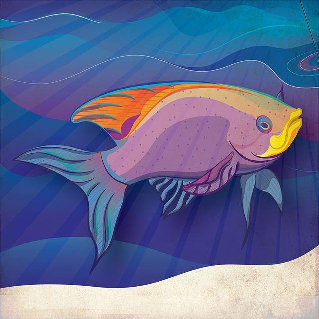 Who doesn't love #fish ! #graphicdesign #adobeillustrator #illustration #design #adobe #art #color #water #drawing #graphicdesigner #illustrator #illustrationartists