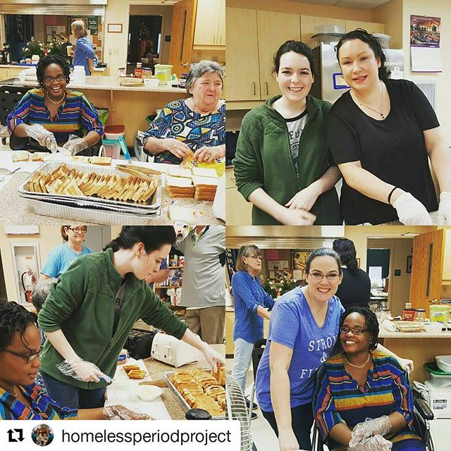 The Bonjour Jolie Team had a wonderful Saturday at Immanuel Lutheran Church!  Feeding the homeless, sharing, some love, and giving out period packs!  #repost @homelessperiodproject with @repostapp ・・・ We made 220 peices of toast, 125 sausages, 25 lbs of oatmeal with raisins, 25lbs if oatmeal plain, had 120 donuts and 159 bananas for the homeless on Saturday. #homelessbreakfast #homelessperiodproject