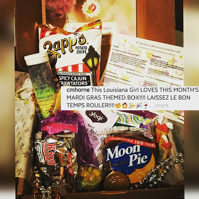 Our Theme for February is Mardi Gras!! Order your box before the 25th to get our February box!  Everyone is loving it!! Thank You @cmhorne for sharing with us! #mardigras #bonjourjolie #bonjourjoliebox