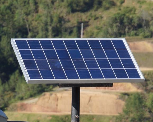 El panel del Sistema Solar LED