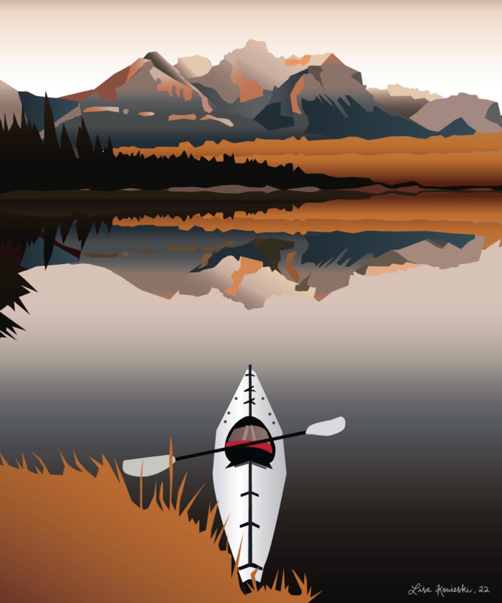 Kayak Digital Illustration.png