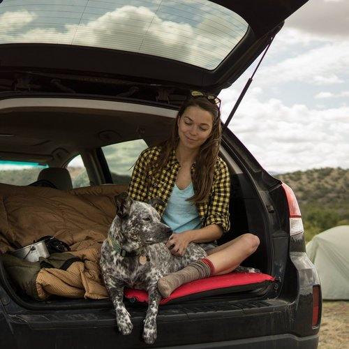 Katie Boue - Is an outdoor advocate, adventurer, climber, writer, former van-dweller, gear tester, and lover of road trips. She is a Western transplant who traded flat Florida swamps and beaches for a life of exploring mountains, camping in the desert, and playing in the snow. Katie likes to be on the road–a lot. In summer 2016, she spent 17 weeks traveling solo in a little white van to explore the west's outdoor recreation economy, and a year living in a big yellow van while climbing full-time across America in 2013.