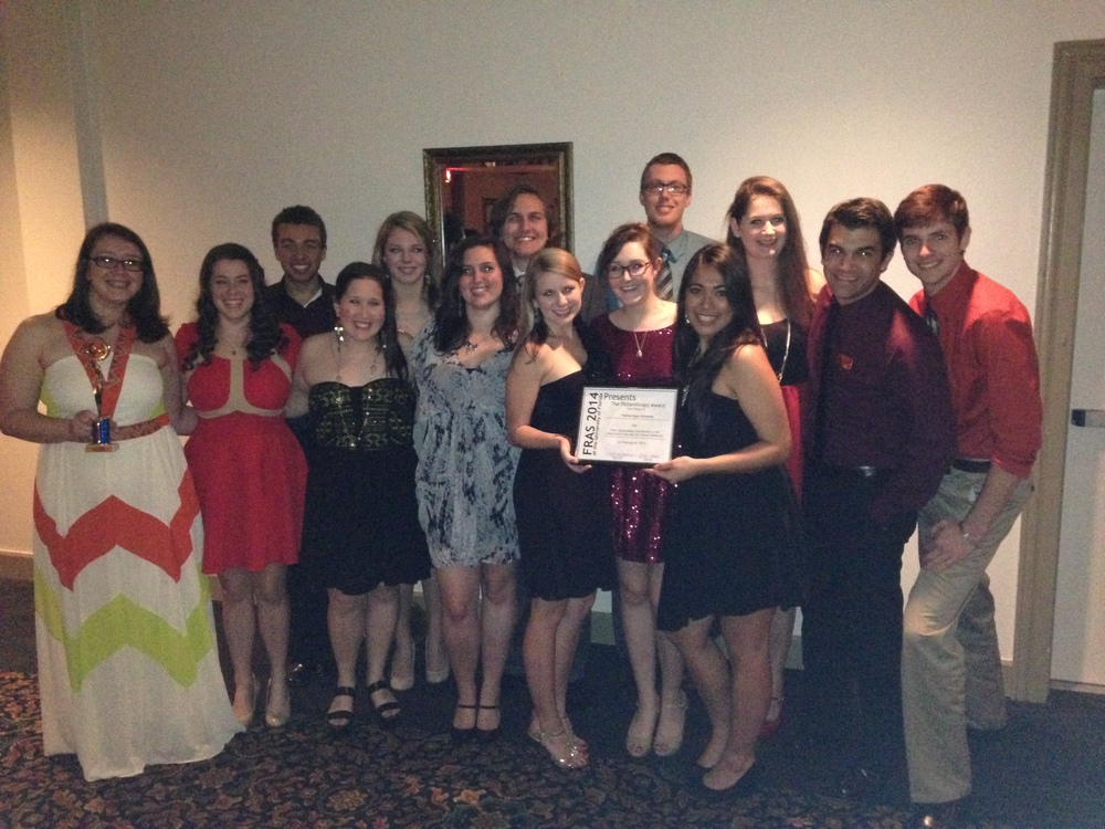 The proud FSU RAs and advisors after the awards ceremony