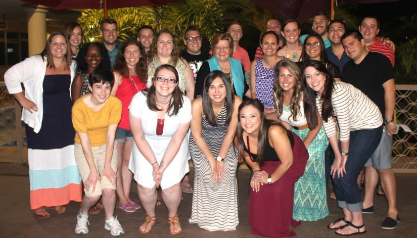 FSU HESA '15 after dinner with Dr. Susan Komives - great way to kick off our Practicum Trip!