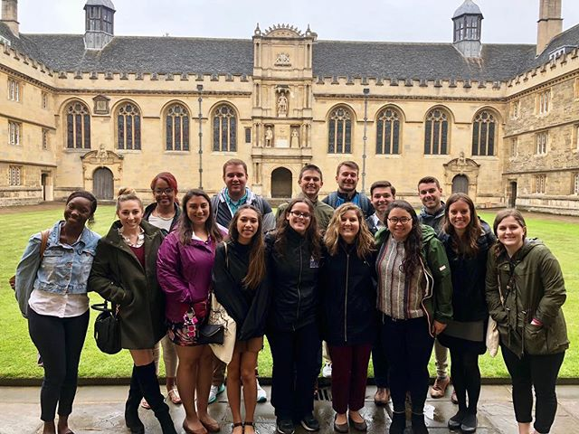 Spent the day exploring Oxford and learned about the incredible history of both the institution and the town. Rain or shine, the University of Oxford was beautiful! #FSUHESAPracticum18