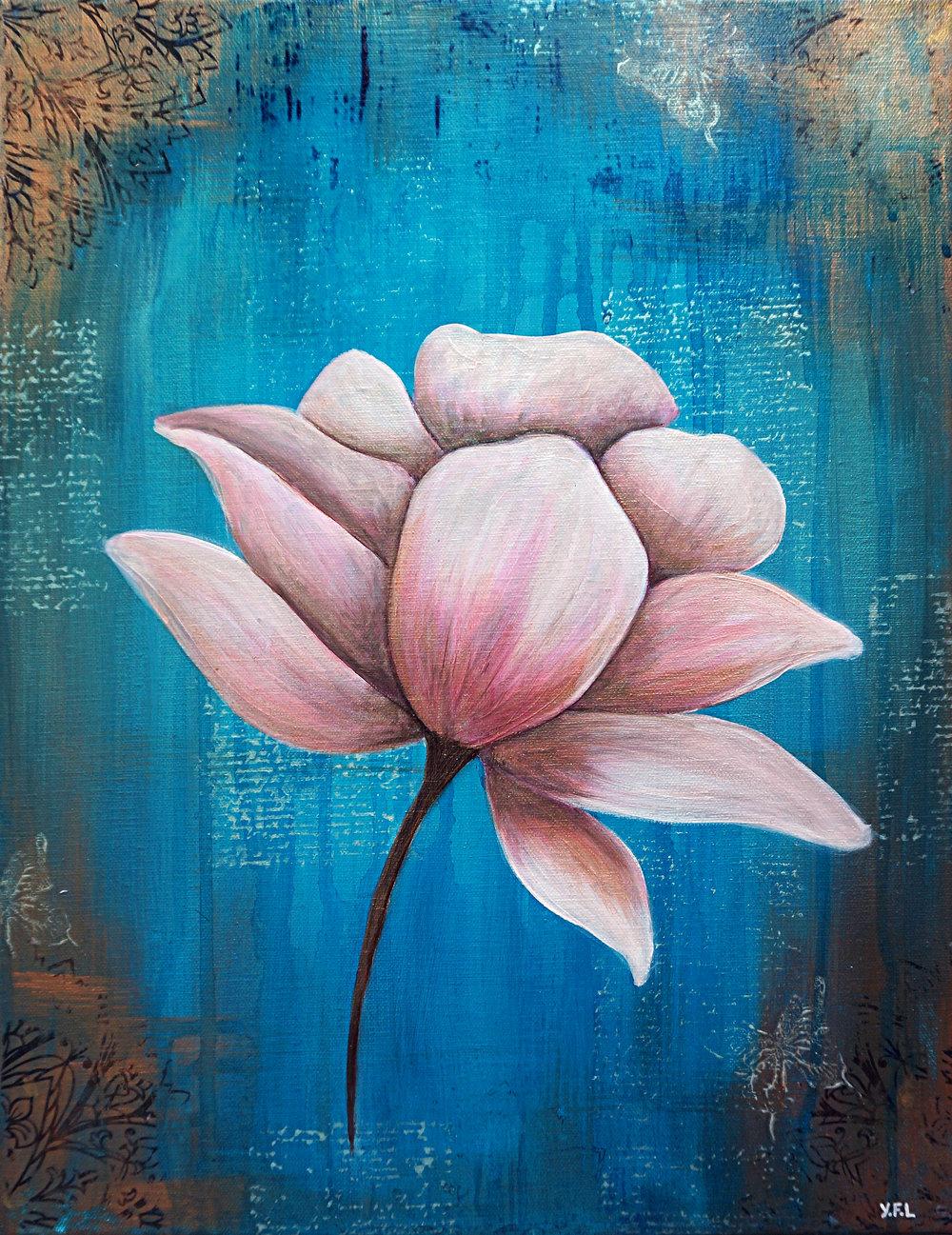 Teal Lotus-SOLD
