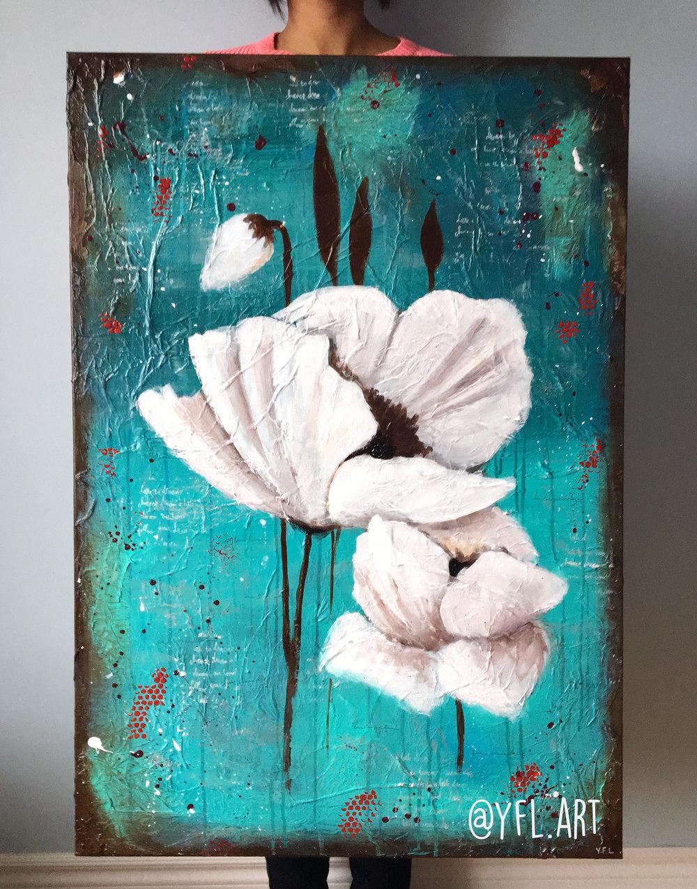 White Poppy -- SOLD