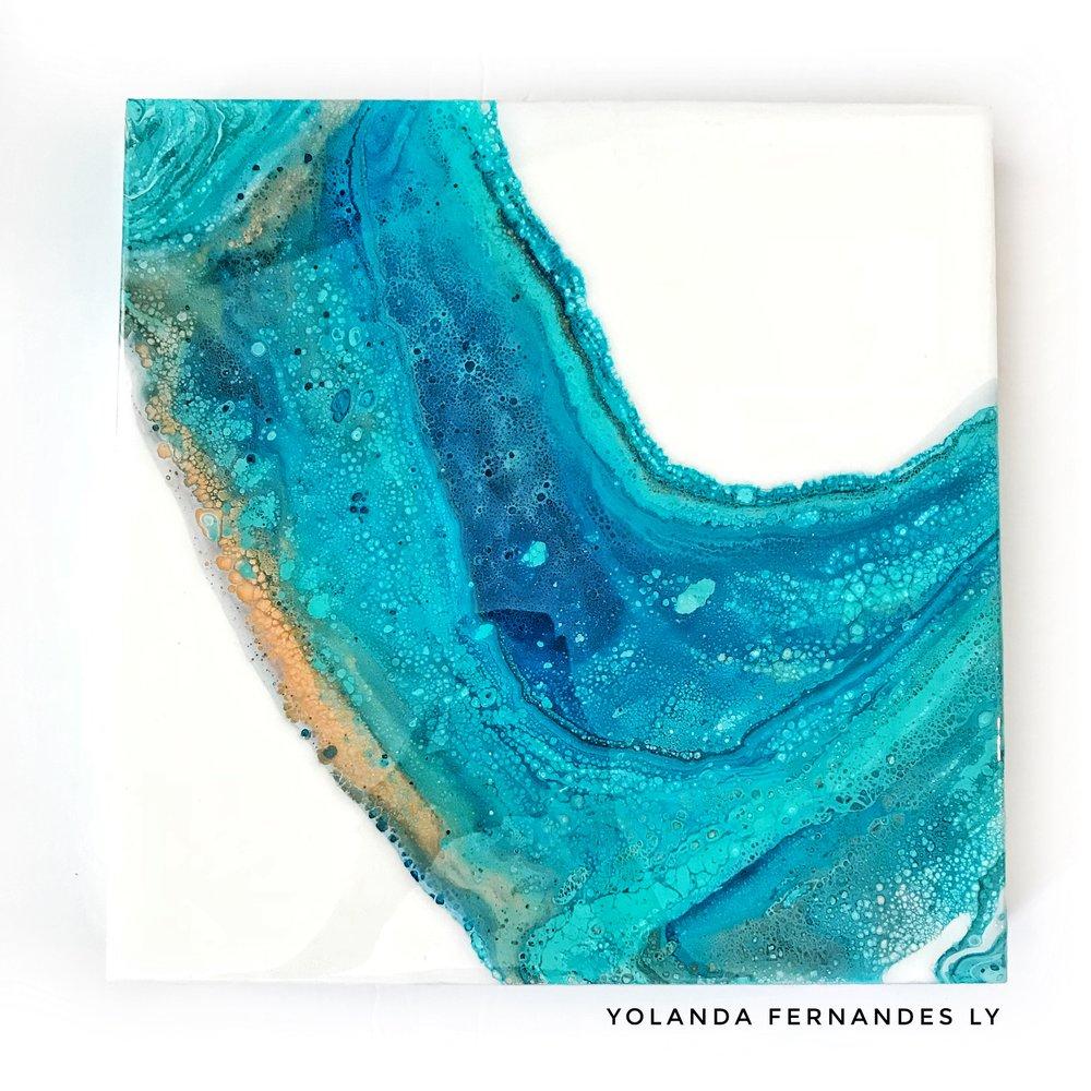 Turquoise Fluid Painting Yolanda Fernandes Ly.JPG