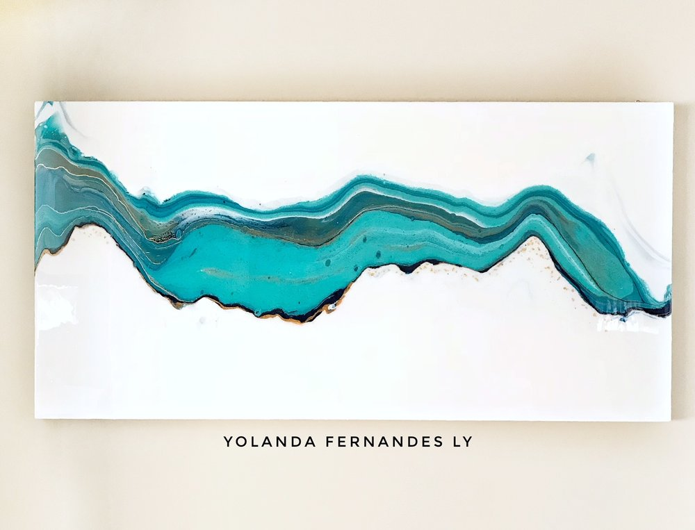 Hydrography-Fluid art  and resin - AVAILABLE-Contact to purchase- 5x2.5 Feet