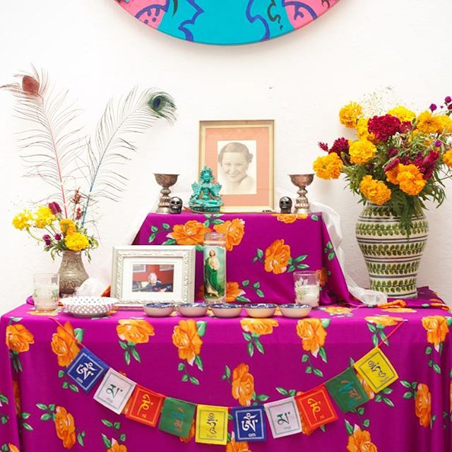 Day of the dead is coming! This was our altar for my Grandmother, Mittie 💓 . . #seanandmittie #adventuretravel #travel #travelpics #travelphotos #travelphotography #worldcaptures #traveltheworld #instatravel #travelgram #instapassport #writetotravel #travelwriter #travelblogger #dayofthedead #diadelosmuertos #sanmigueldeallende #mexico