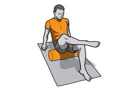 Be sure to roll into the opened, externally rotated glute.