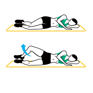 The Clamshell exercise. Put your mama on speakerphone and make those glutes burn.