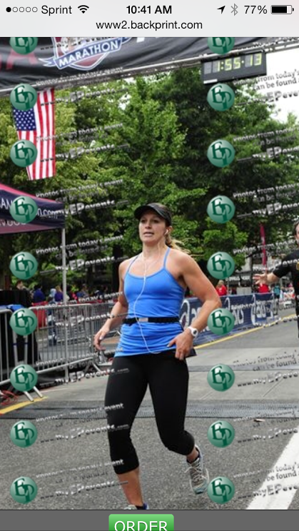 ...aaand here's me at the finish line, thinking some serious four-letter words.