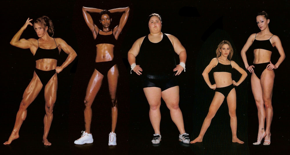 These women are different shapes and sizes, but all are professional athletes at the peak of their careers. See more of this photo project here.