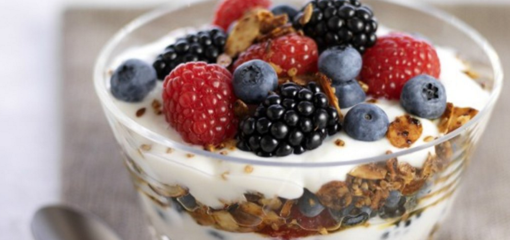 Pack berries, greek yogurt, and granola for a delicious snack made of real foods.