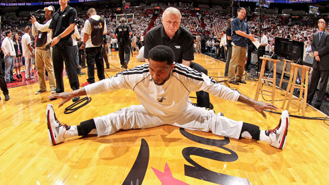 Miami Heat strength coach Bill Foran in action. Photo Credit: SLAM.