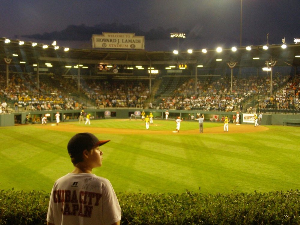 My son, Kaleb, at the 2008 Little League World Series in Williamsport, PA.