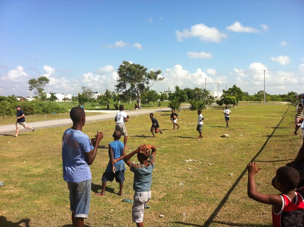 Dominican Republic youth engaging in unstructured free play.