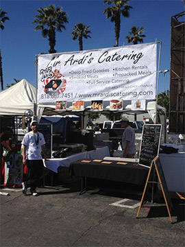 Jeff's Booth at the Farmer's Market in Northridge