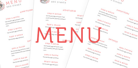 Sample Menu's