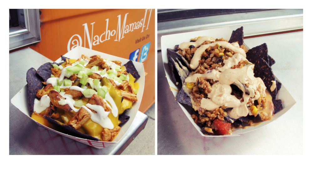 "Buffalo ""Chic"" Bleu Cheese Nachos  (Special of the Day) left photo....and  Ultimate   Nachos  (right photo)."