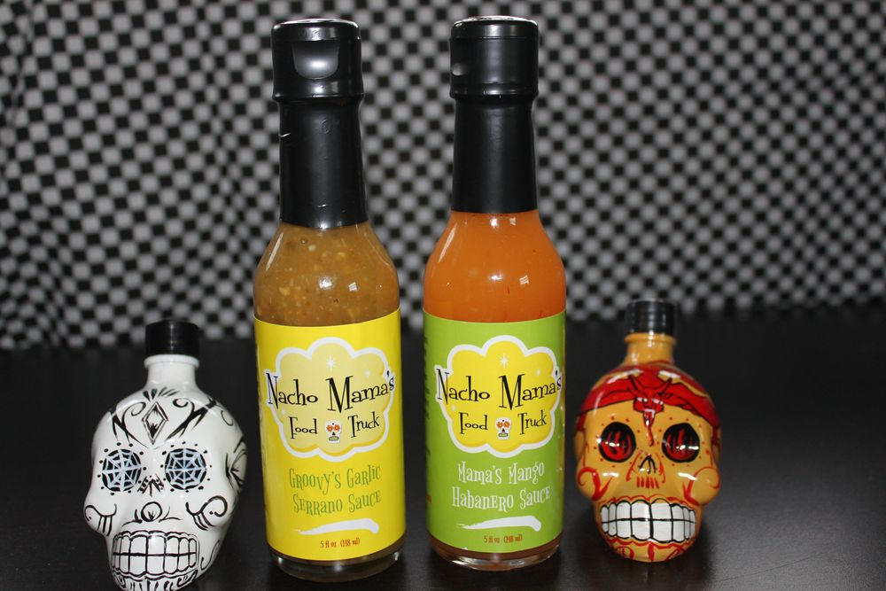 Don't forget ... Nacho Mama's Food Truck hot sauces  are available to sample and purchase ($6) on the truck.