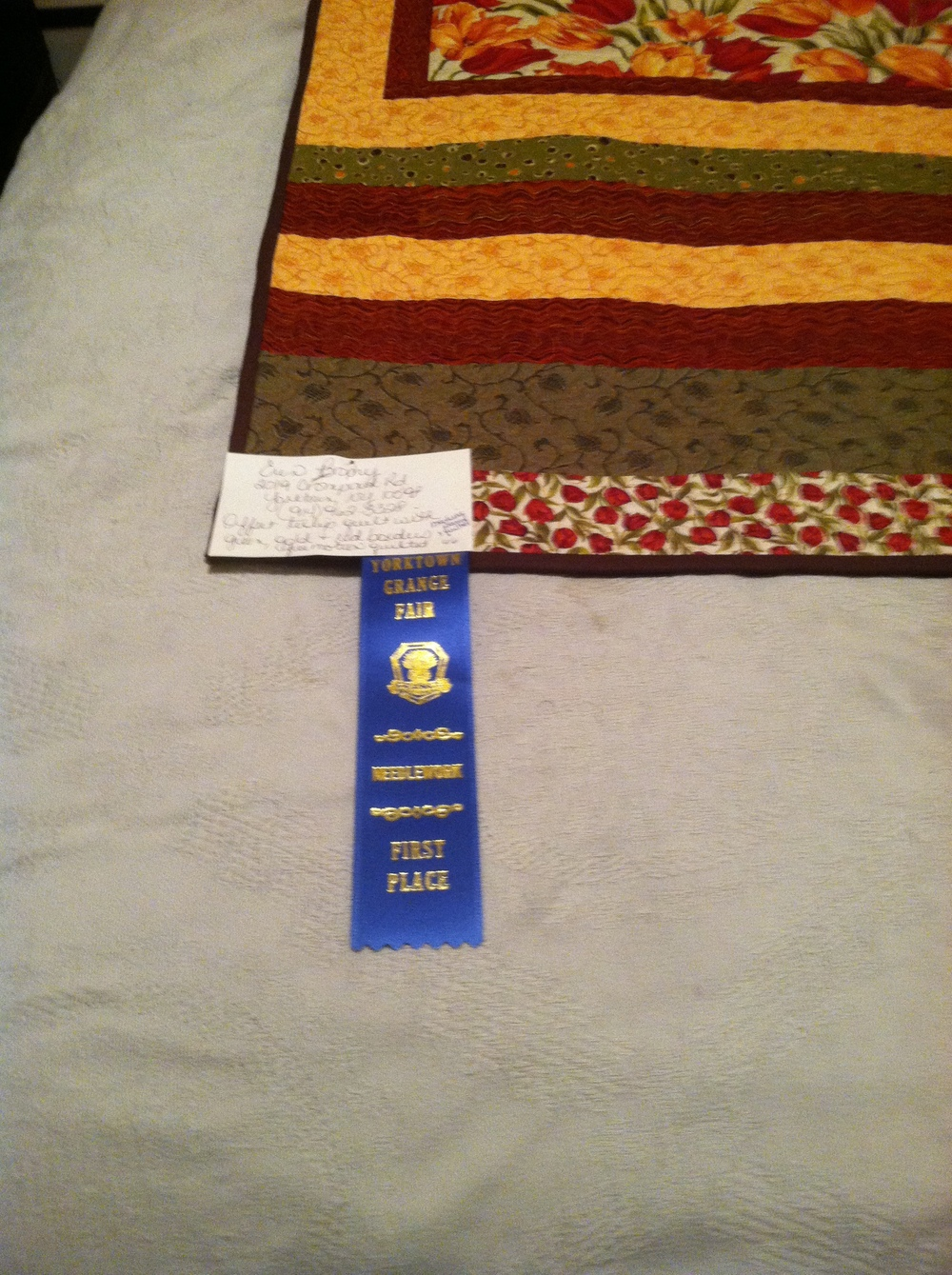 My Apex quilt won a Blue Ribbon